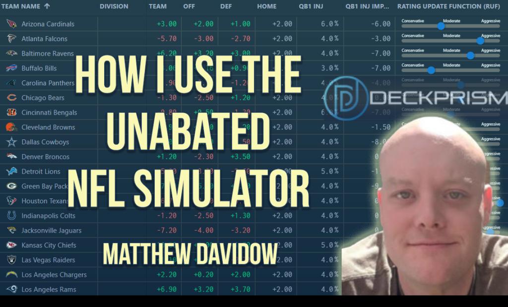 How I Use the Unabated NFL Simulator Davidow